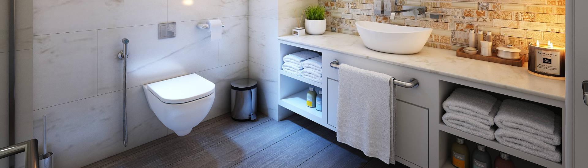 lazienka-z-parkietem Jaka podłoga drewniana do łazienki? - Telefon: 609-370-990
